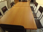 Discussion tables donated by Sansera Foundation