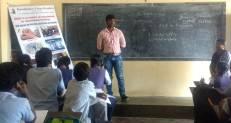 Ningaraj and Manjula addressing students