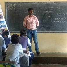 Ningaraj and Manjula addressing students