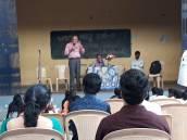 Subbu Hegde addressing the students
